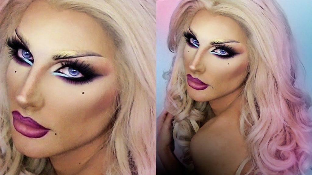 En el maquillaje Drag Queen no pueden faltar las pestañas postizas